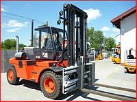 Погрузчик вилочный LINDE H100, 2005г., 10 тонн, дизель, кабина, позиционер!