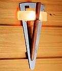 Светильник Факел TL 100 с деревянным стержнем Cariitti для бани и сауны, фото 2