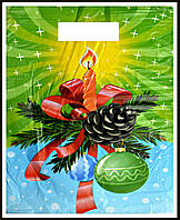 Новогодний пакет банан 44 х 35 см / уп-100шт(тонкие)