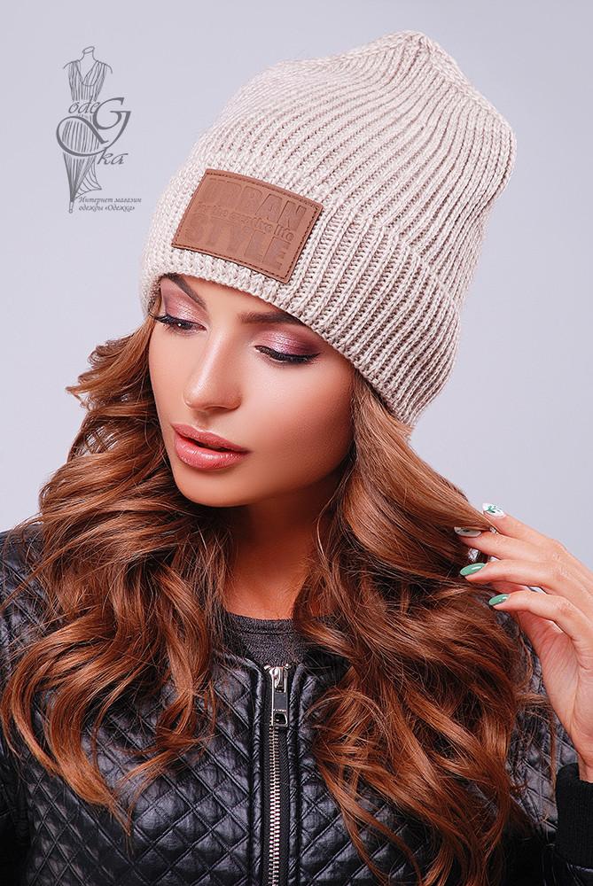 Вязаные женские шапки Стайл-5 нить шерсть-акрил