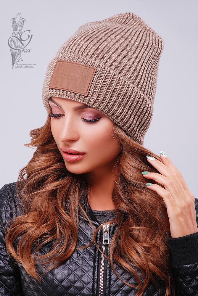 Вязаные женские шапки Стайл-7 нить шерсть-акрил