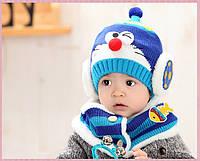 Набор шапка и снуд зимние для мальчика