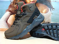 Мужские кроссовки зимние Nike Air Huarache Winter хаки 41 р.