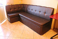 Кухонный угловой диванчик в искусственной коже (Бронзовый), фото 1