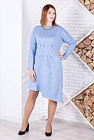 Теплое женское платье №2067