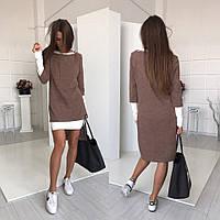 Женское крутое платье-трансформер (платье-двойка) с casual-стиле (3 цвета)