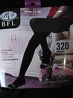 Бесшовные женские колготы на байке BFL. Черные