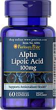 Альфа-ліпоєва кислота Puritan's Pride Alpha Lipoic Acid 100 mg 60 Capsules