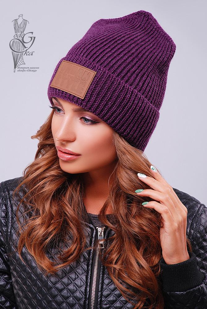 Вязаные женские шапки Стайл-14 нить шерсть-акрил
