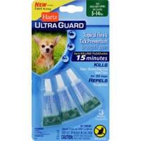 Капли Hartz от блох, клещей и комаров для собак 2-7кг