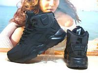 Мужские кроссовки зимние Nike Air Huarache Winter черные 42 р.