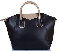 Стильная женская сумка из кожзаменителя ETERNO ETZG28-14-2, цвет черный.