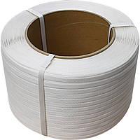 Полипропиленовая лента 16x06 мм белая, фото 1