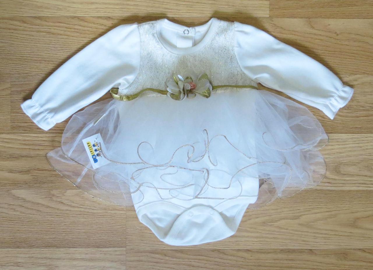 Боди-платье для малышки (рост 68 - 3-6 мес.)