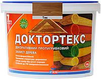 Лазурь-лак антисептический ІРКОМ ДОКТОРТЕКС ІР-013 для древесины тик 10л