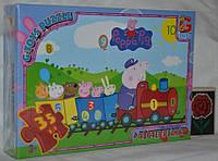Пазлы картонные, 70 эл. формат А4 Свинка Пеппа PP009