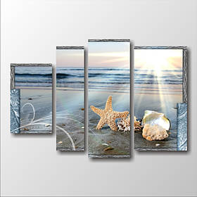 """Модульна картина """"Морська зірка в піску"""""""