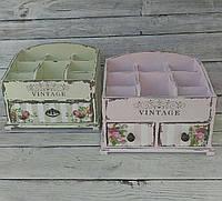 Органайзер для косметики мини Vintage, 2 ящика