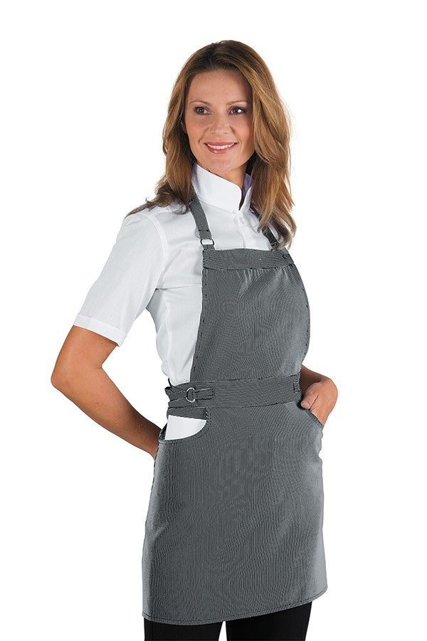 Серый фартук для официантов