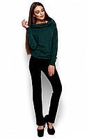 Теплий темно-зелений светр з ангори Lilu