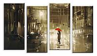 Модульная картина дождь