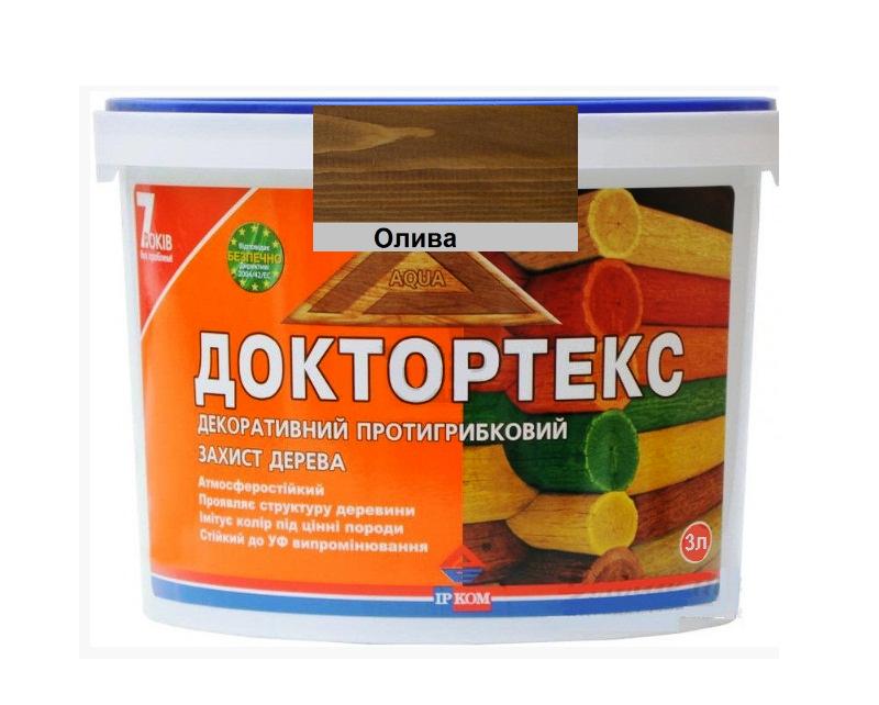 Лазурь-лак антисептический ІРКОМ ДОКТОРТЕКС ІР-013 для древесины олива 3л
