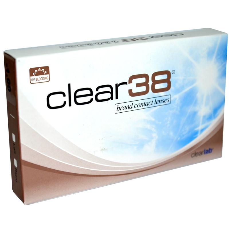 Линзы контактные/Контактні лінзи на 3 месяца Clear 38, Сингапур (1 шт)