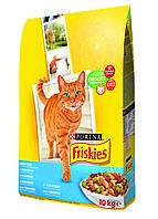"Friskies ""С лососем и  овощами"" - 10 кг Фрискис корм для кошек"