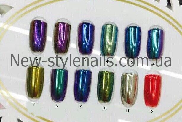 Втирка зеркальная для ногтей, цвета в ассортименте