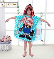 Пляжное полотенце пончо Пират