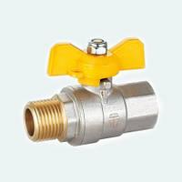 Кран шаровой HLV GAS вн-нар желтая бабочка