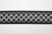 Т/О орнамент 20мм (50м) черный+белый