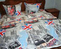 """Комплект постельного белья евро """"Лондон"""",бязь."""