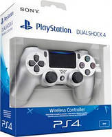 Джойстик Dualshock 4 для консоли PS4 (Silver) version 2