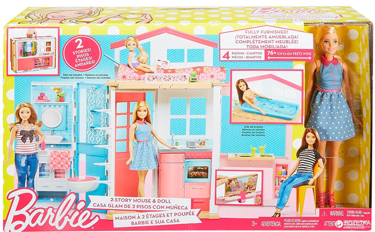 BARBIE (Барби) Портативный переносной домик с куклой (DVV48)