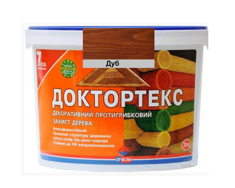 Лазурь-лак антисептический ІРКОМ ДОКТОРТЕКС ІР-013 для древесины дуб 3л