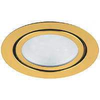 Светодиодный мебельный светильник Feron LN7 3W 4000K золото 220V (врезной) Код.55133