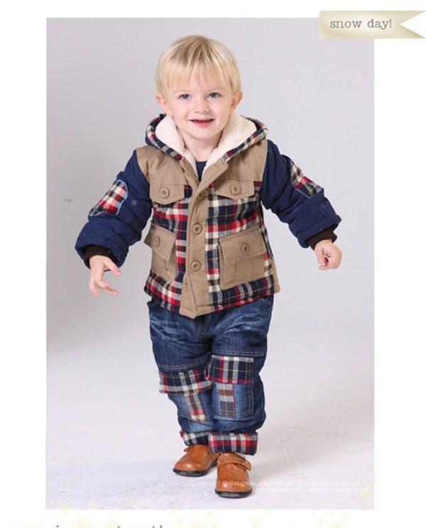 Детский теплый демисезонный костюм на мальчика