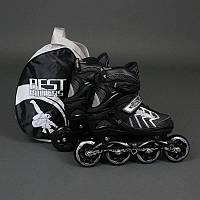 ".Ролики 9015 ""L"" Gray - Best Rollers /размер 39-42/ (6) колёса PU, без света, d=9см"