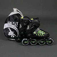 ".Ролики 9015 ""M"" Green - Best Rollers /размер 35-38/ (6) колёса PU, без света, d=8.4см"