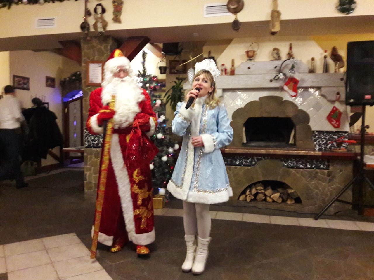 Поздравление Деда Мороза и Снегурочки на корпоративах Сумы