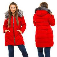 Женская зимняя куртка Застегивается на молнию, дорогая фурнитура, капюшон не отстёгивается  Водоотталкивающая