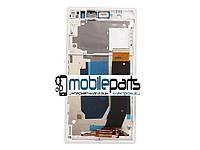 Оригинальный Дисплей (Модуль) + Сенсор для Sony C6602   C6603   C6606   L36h   Xperia Z (С рамкой) (Белый)