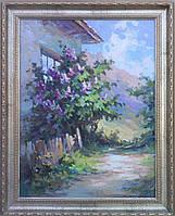 Картина Куст сирени (45х60, 2007, Устименко)
