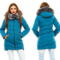 Женская зимняя куртка Застегивается на молнию, дорогая фурнитура  Капюшон не отстёгивается  Водоотталкивающая
