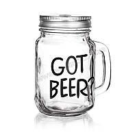 Кружка с крышкой banquet 450 мл madeira got beer 04k9337-gb