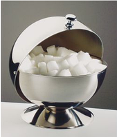 Сахарница D13,5см, H15см из нержавеющей стали с окрывающейся крышкой и хромированной ручкой APS 00033
