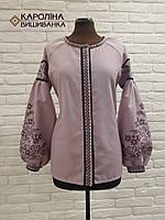 Пошита жіноча сорочка під вишивку ( Лілова бохо) d2a5d1162c04f