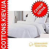 Комплект двуспального евро белого постельного белья