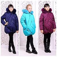 Детская зимняя куртка для девочки | Стильный зимний пуховик